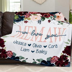 Personalized Floral Blanket 21