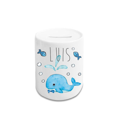 Personalized Cartoon Money Box II10 - Whale