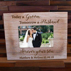 Personalized Picture Frame Mr & Mrs