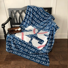 Personalized Baseball Blanket I01