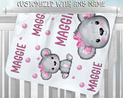 Personalized Name Fleece Blanket - Koala
