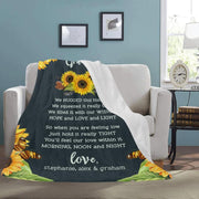 Personalized Family Name Blanket-For Grandma 01