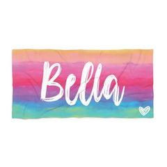 Personalized Tie Dye Colorful Beach Towels
