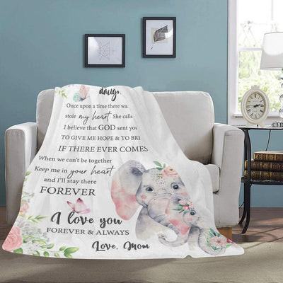 Personalized Family Name Blanket-For Daughter 01