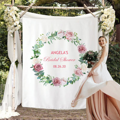 Custom Bridal Shower Backdrop 11