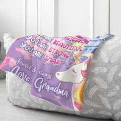 Personalized Family Name Blanket-For Granddaughter 01