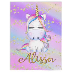 Personalized Magical Unicorn Fleece Blanket 13