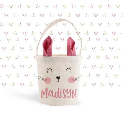 Personalized Easter Bunny Bag - Pink