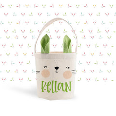 Personalized Easter Bunny Bag - Green