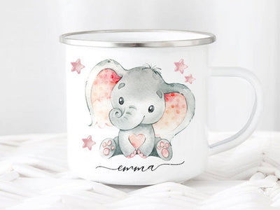 Personalized Cartoon Elephant Mug I01