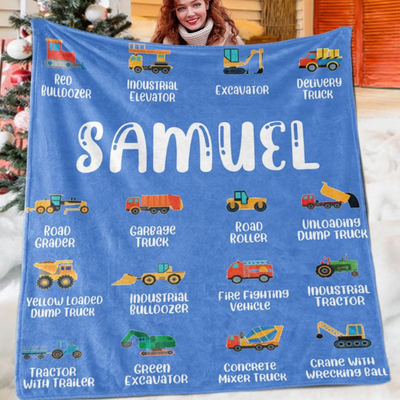 Custom Name Fleece Blanket 08