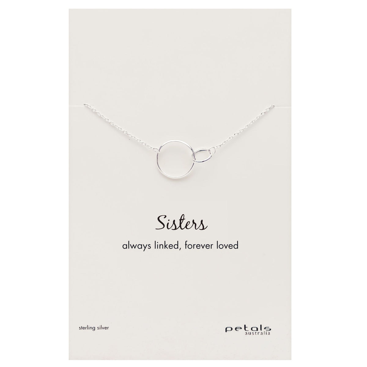 Sisters Necklace - Silver