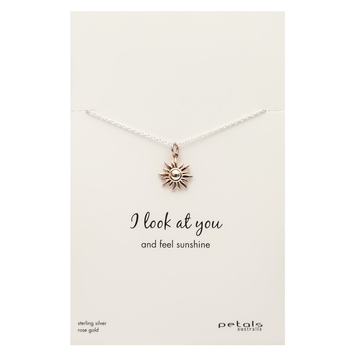 Sun - I look at You  Necklace - Silver & Rose Gold