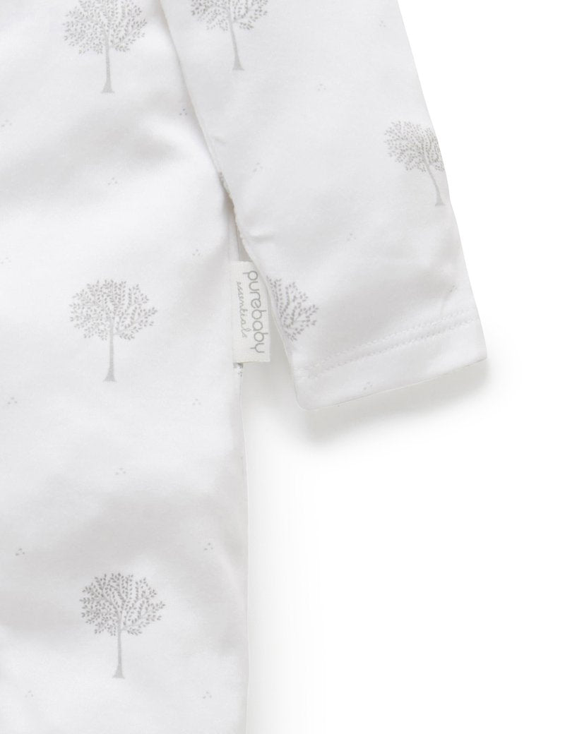 Tree Zip Growsuit - Pale Grey