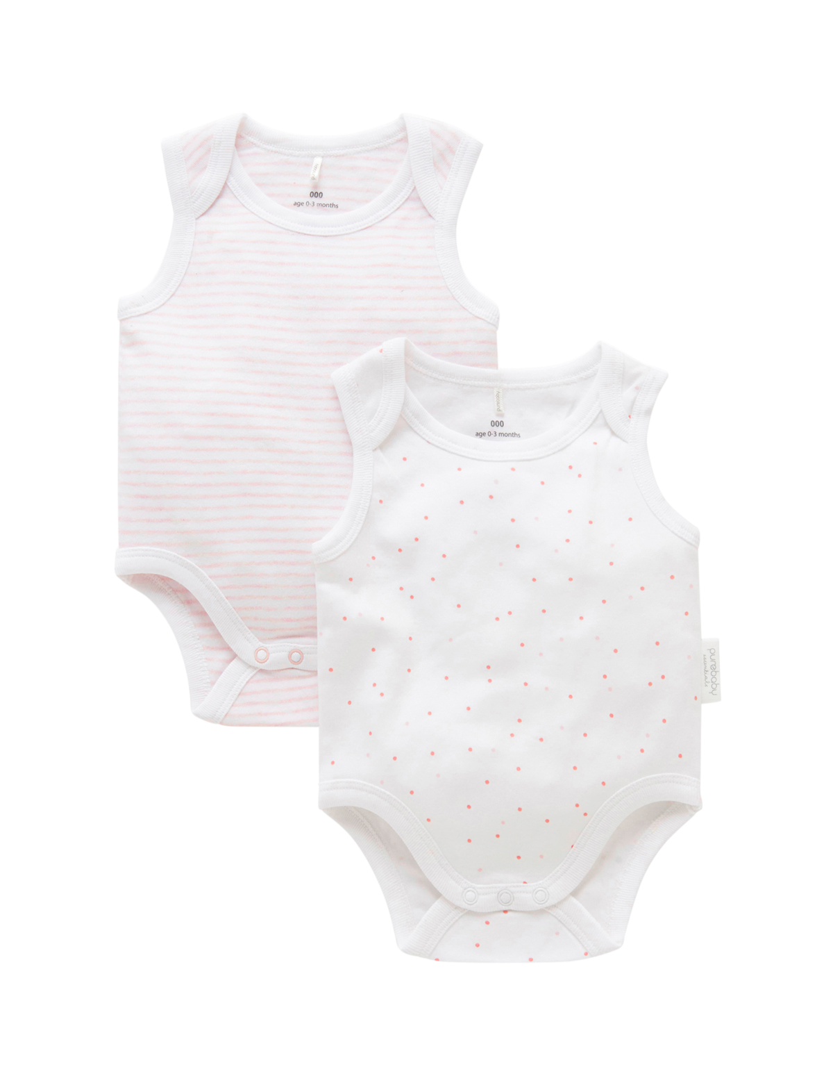 Bodysuit 2 Pack Gift Box - Pale Pink
