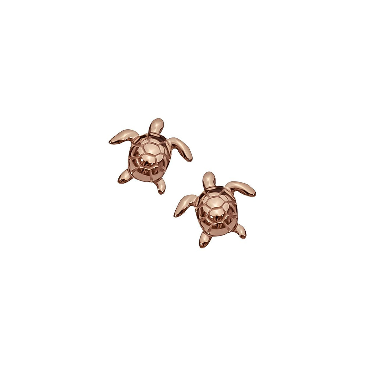 Turtle  Earrings - Rose Gold