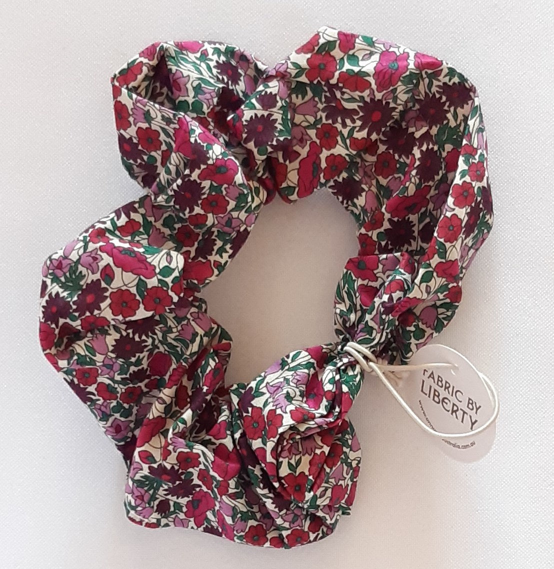 Liberty Print Scrunchie - Field Wine