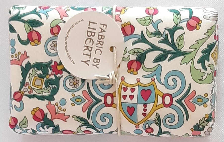Liberty Print Wrapped Soap - Queen of Hearts
