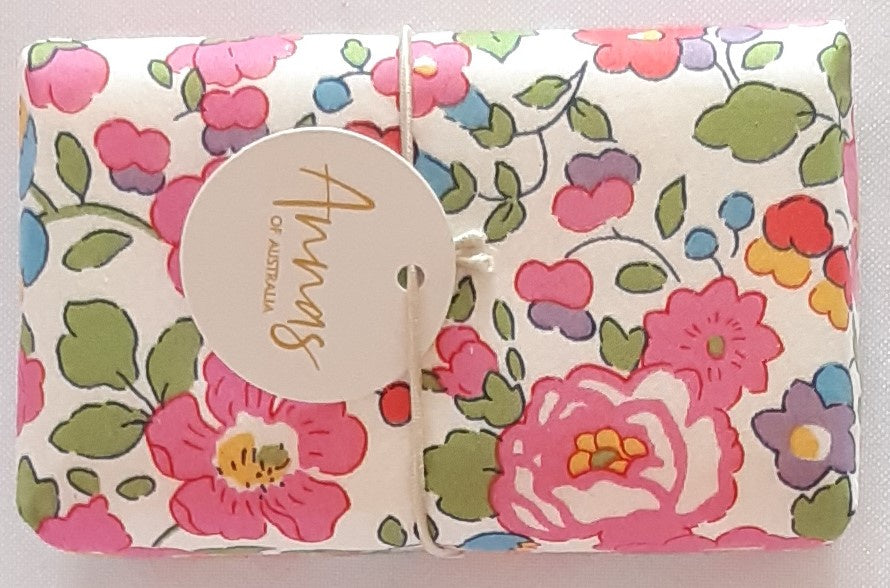 Liberty Print Wrapped Soap - Pretty Pinks