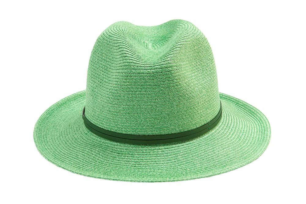 Borsalino hat with leather strap - Mint