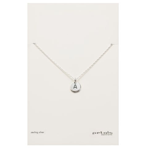 Love Letter A Necklace - Silver