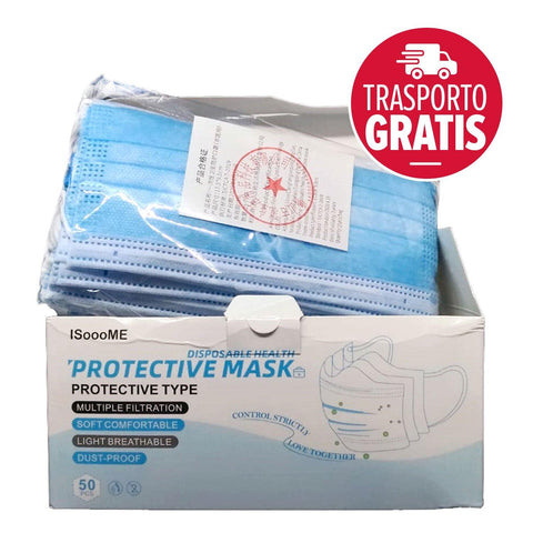 100 surgical masks for civil use - 2 boxes of 50 masks