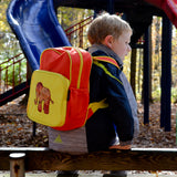 Dumebi Backpack - Red and Yellow Elephant