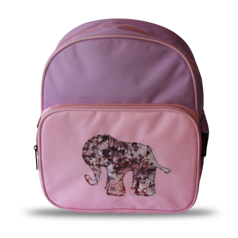 Dumebi Backpack - Pink and Purple Elephant