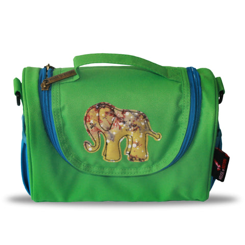 Toju Lunch Bags - Blue and Green Elephant