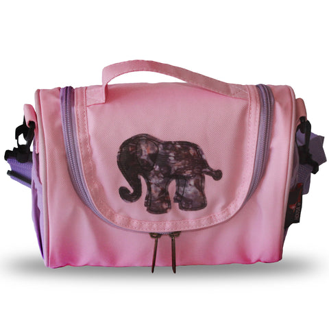 Toju Lunch Bags - Pink and Purple Elephant