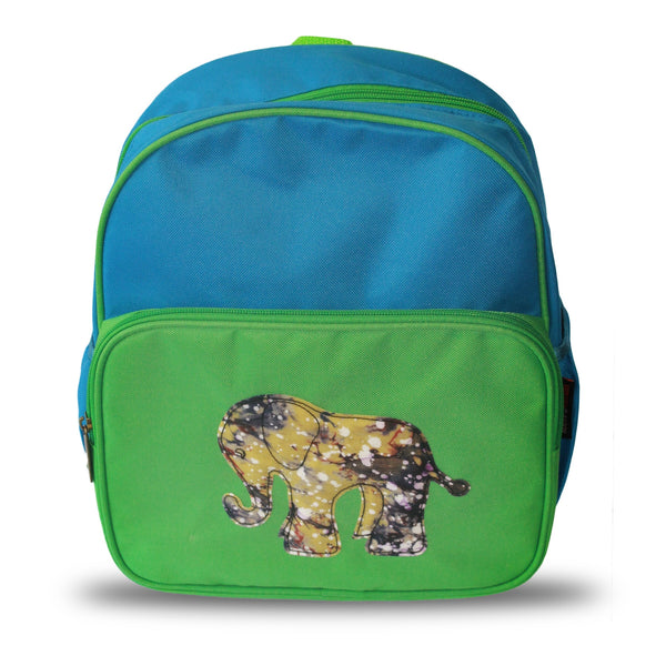 Dumebi Backpack - Green and Blue Elephant