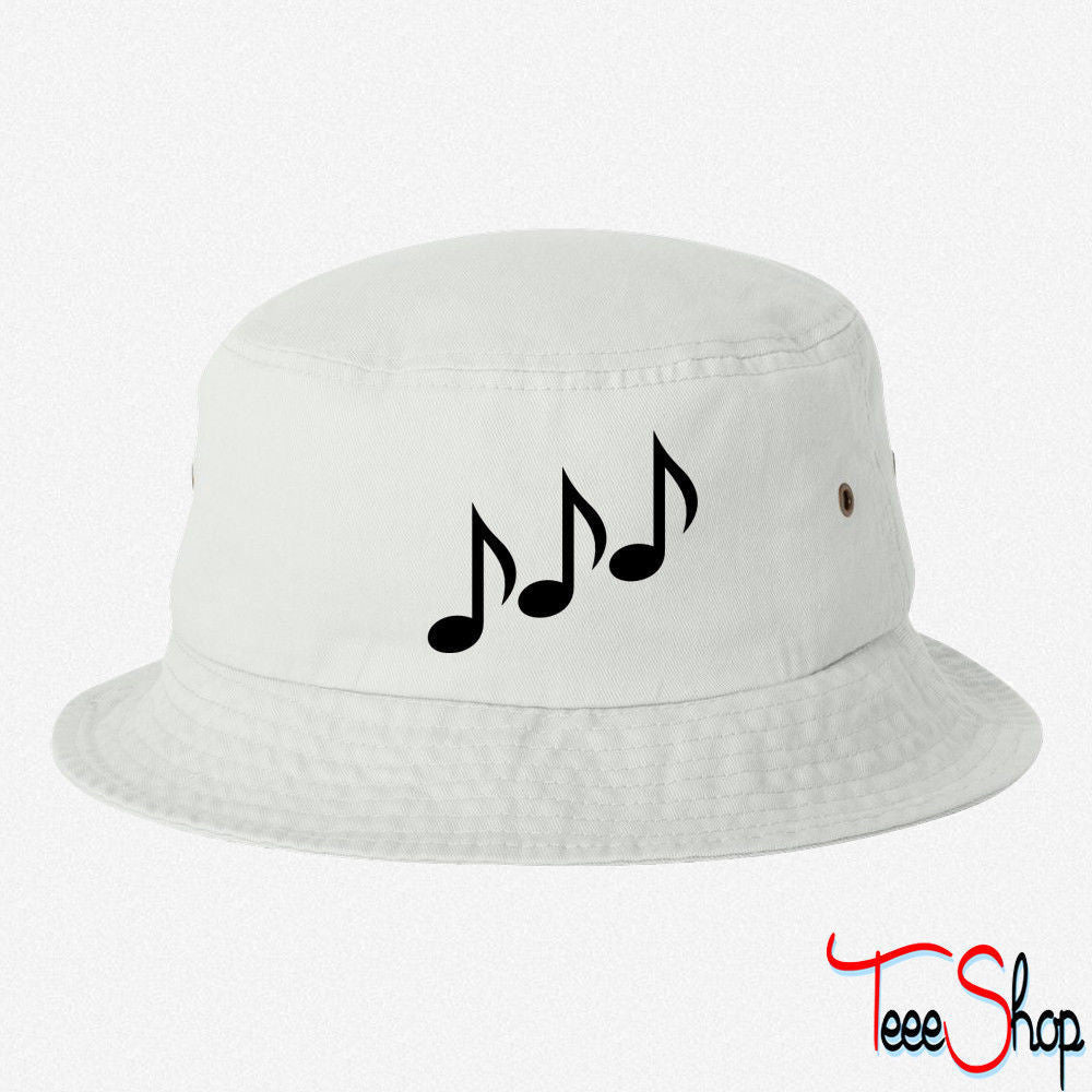 MUSIC NOTE 5 EMBROIDERED BUCKET HAT