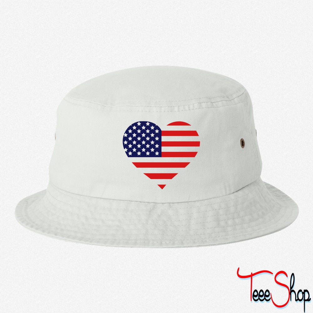 American Heart FLAG  BUCKET HAT