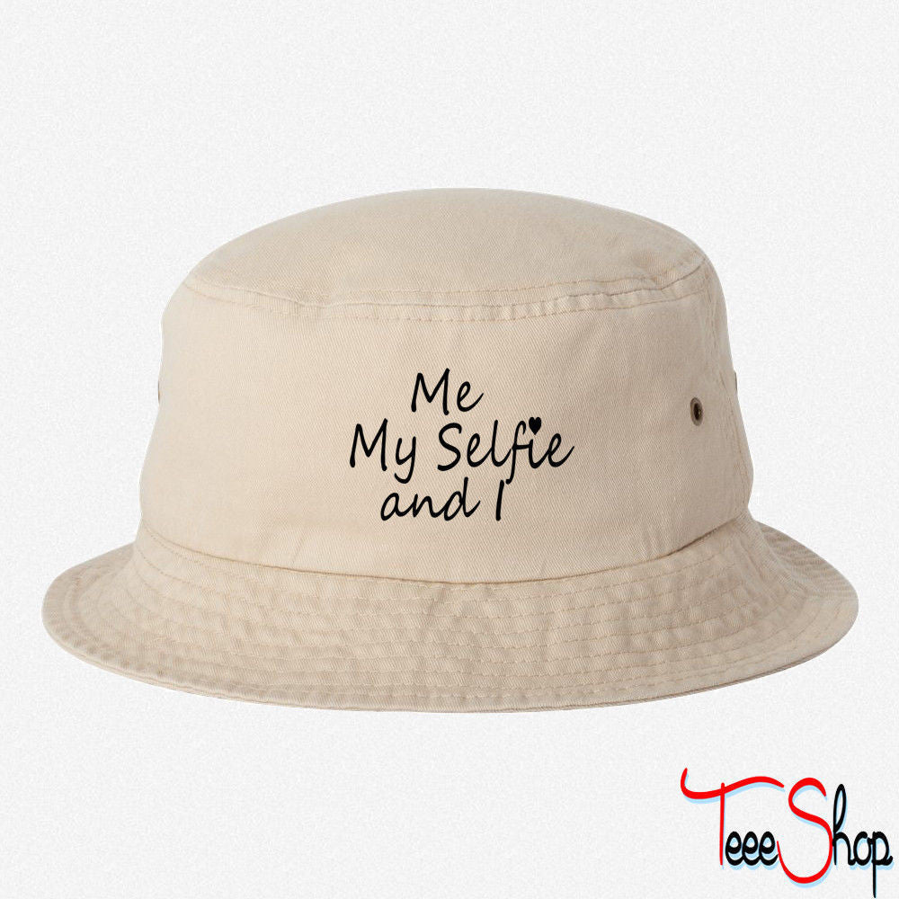 ME MY SELFIE EMBROIDERED BUCKET HAT