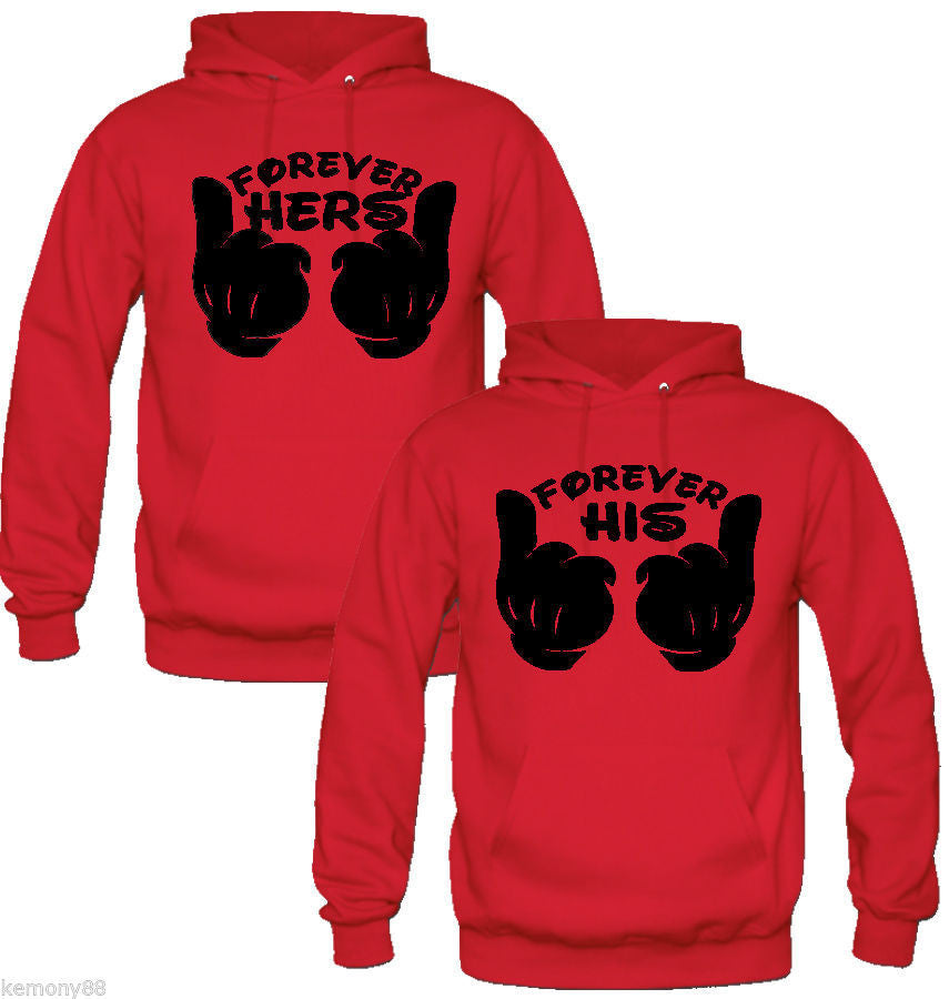 FOREVER HER FOREVER HIS COUPLE HOODIES