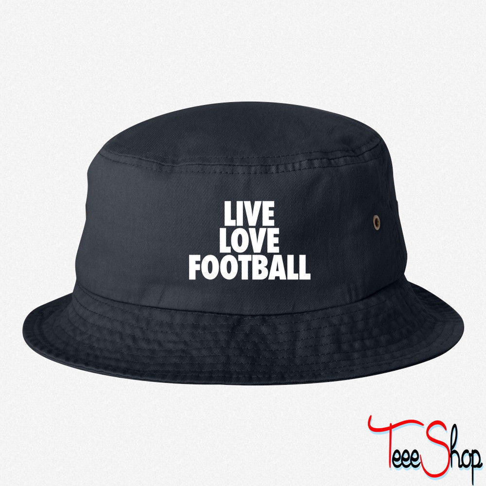 Live Love Football bucket hat