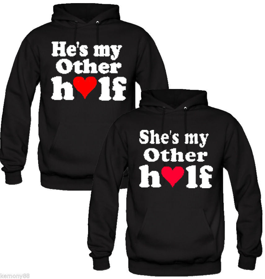 He's my other half She's My Other Half  Couple Hoodies