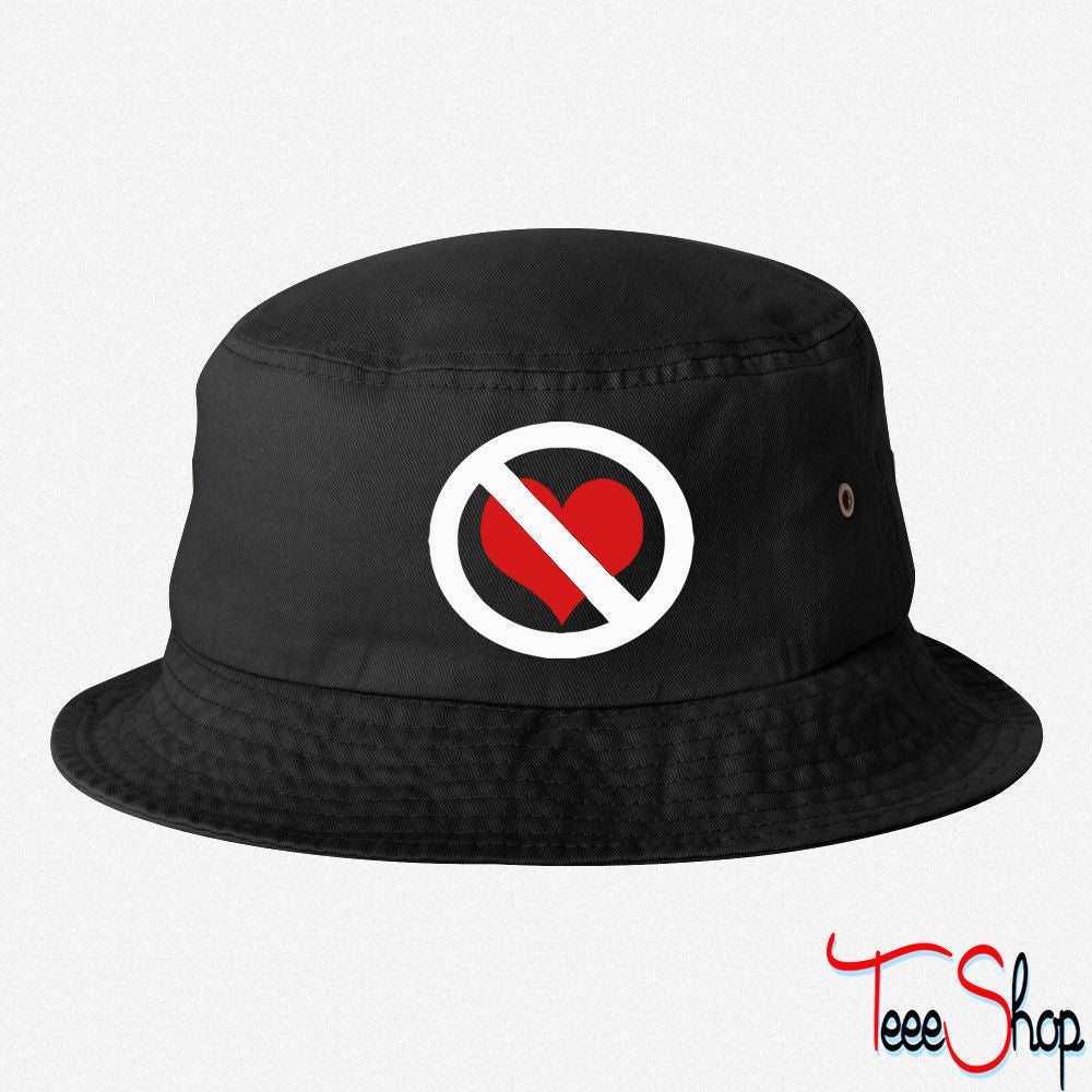 NO LOVE SIGN  BUCKET HAT