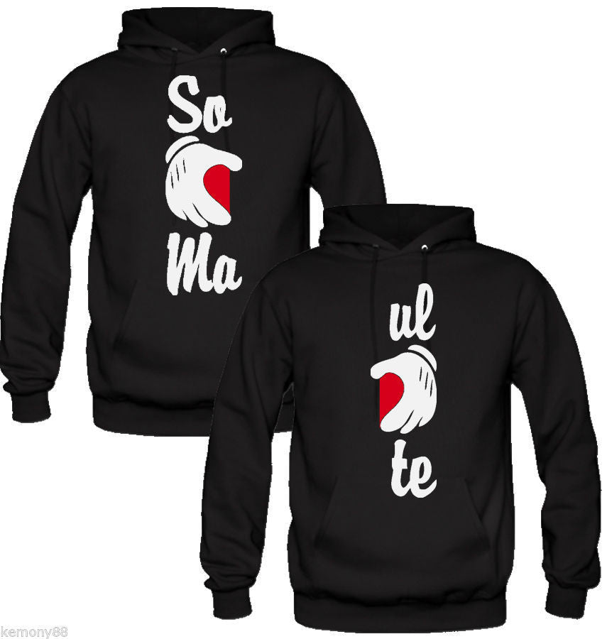 Soul Mate Hands Love Couple Hoodies