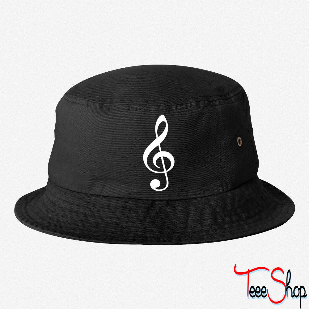 MUSIC NOTE 9 EMBROIDERED BUCKET HAT