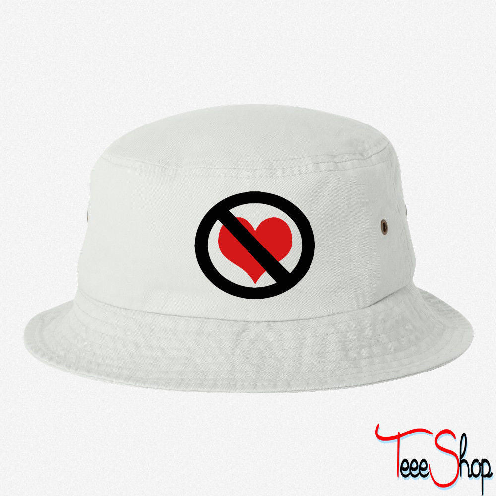dae85e756dc NO LOVE SIGN BUCKET HAT