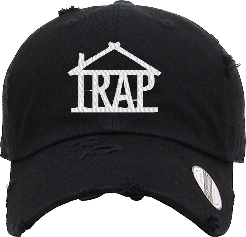 TRAP HOUSE Distressed Baseball Hat