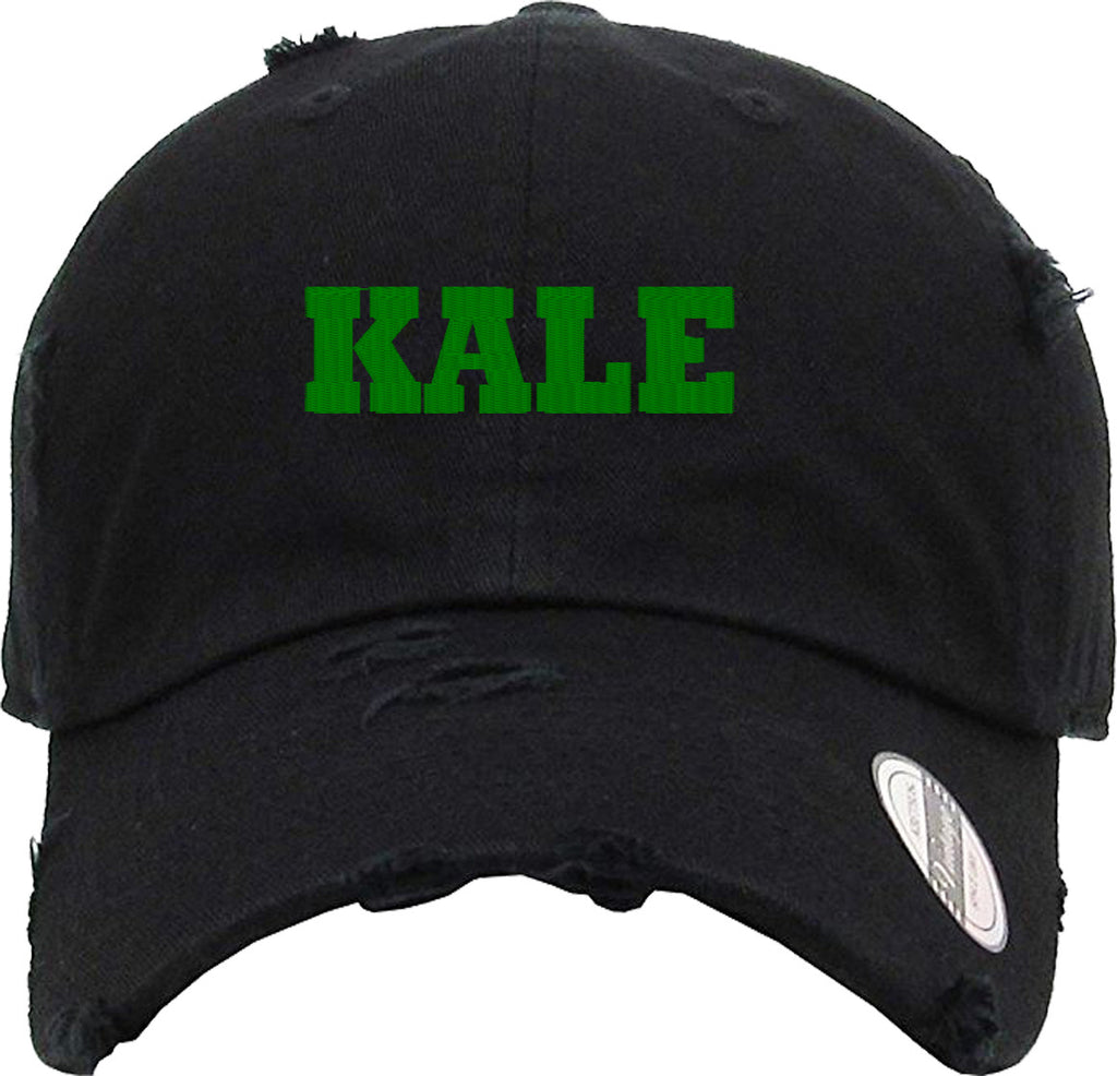 KALE Distressed Baseball Hat