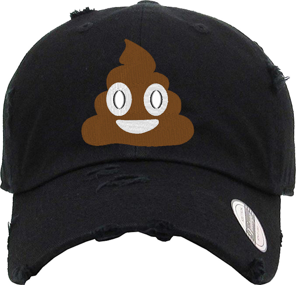 EMOJI SHIT Distressed Baseball Hat