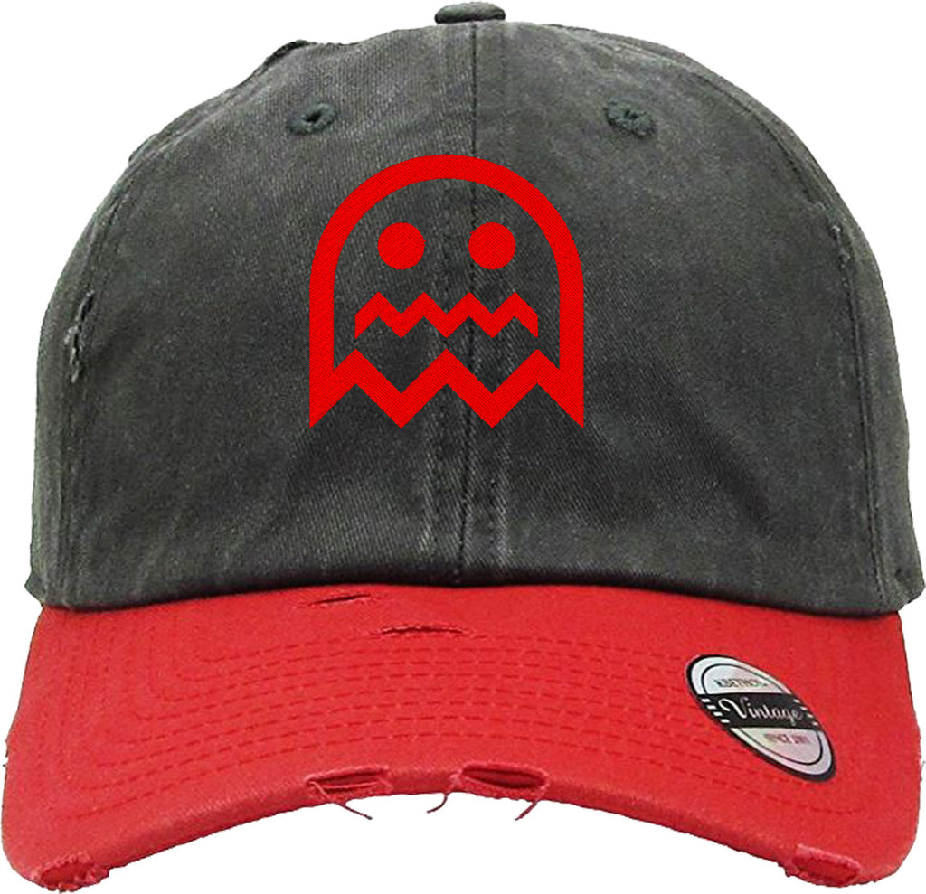 HAPPY FACE Distressed Baseball Hat