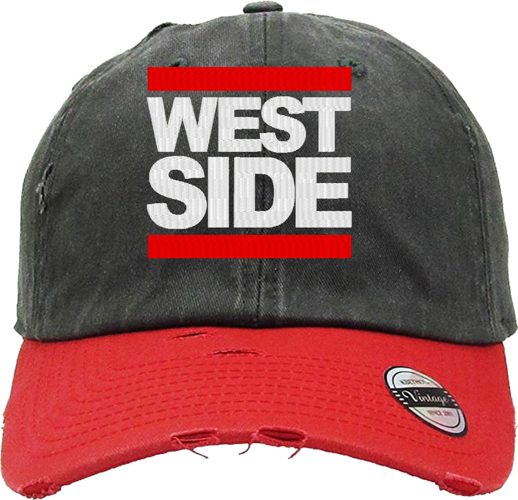 WEST SIDE Distressed Baseball Hat