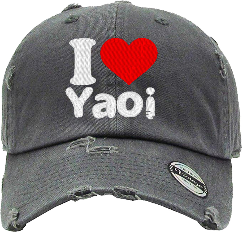 i love yoi Distressed Baseball Hat