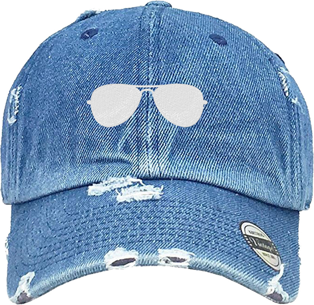 SUNGLASSES  Distressed Baseball Hat