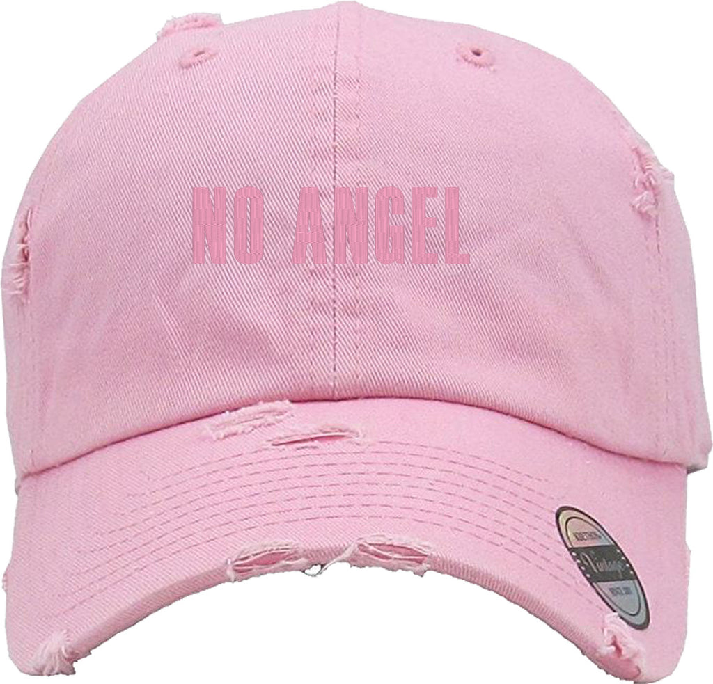 NO ANGEL Distressed Baseball Hat