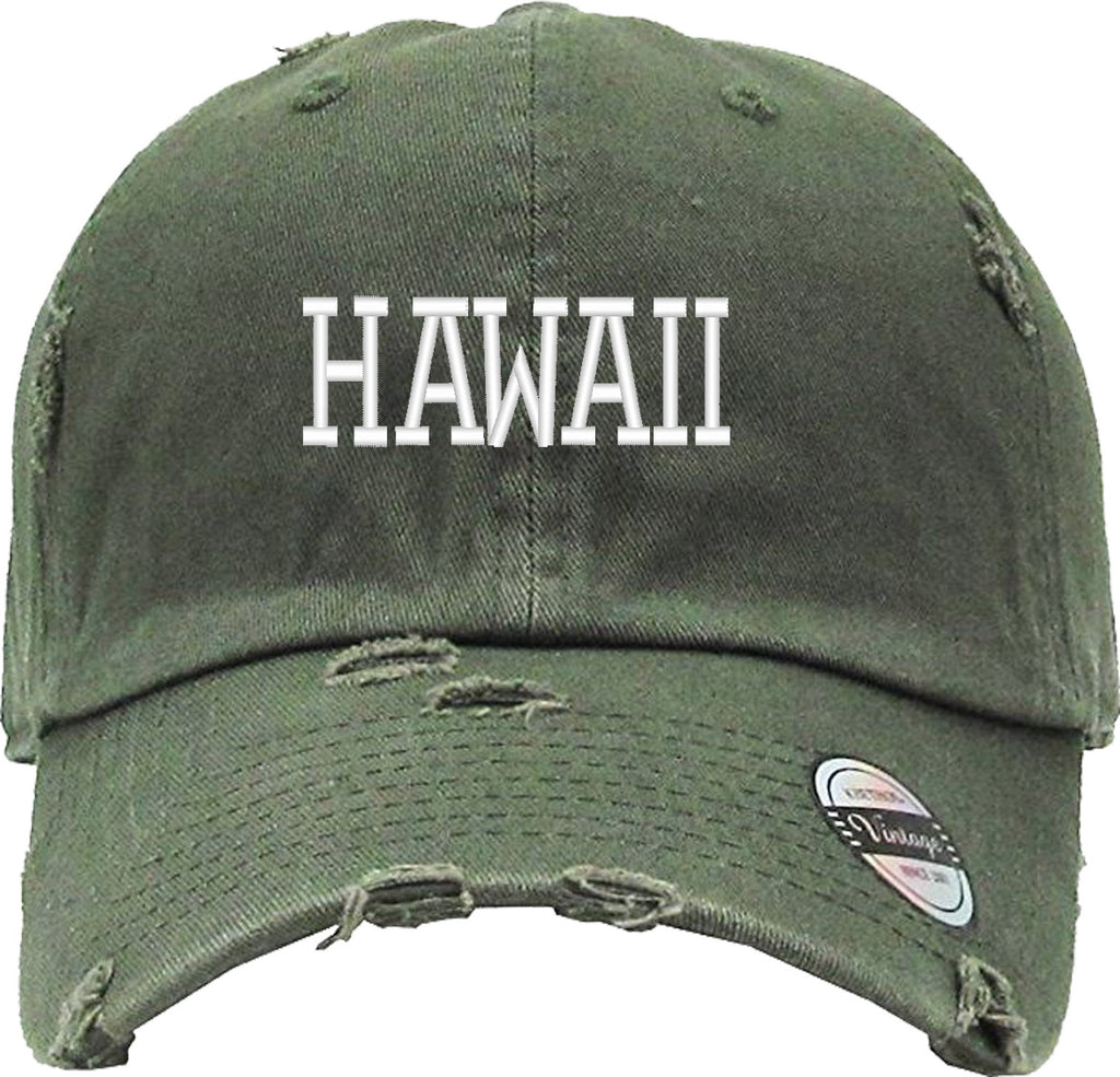 HAWAII Distressed Baseball Hat